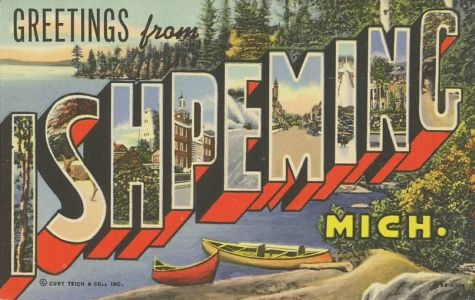 Ishpeming MI post card
